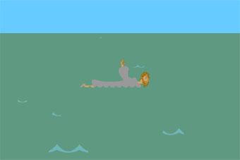 neen_jesusswimming