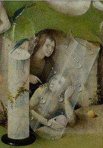 """Hieronimus Bosch, """"Lustarnas trädgråd"""" (detalj)"""